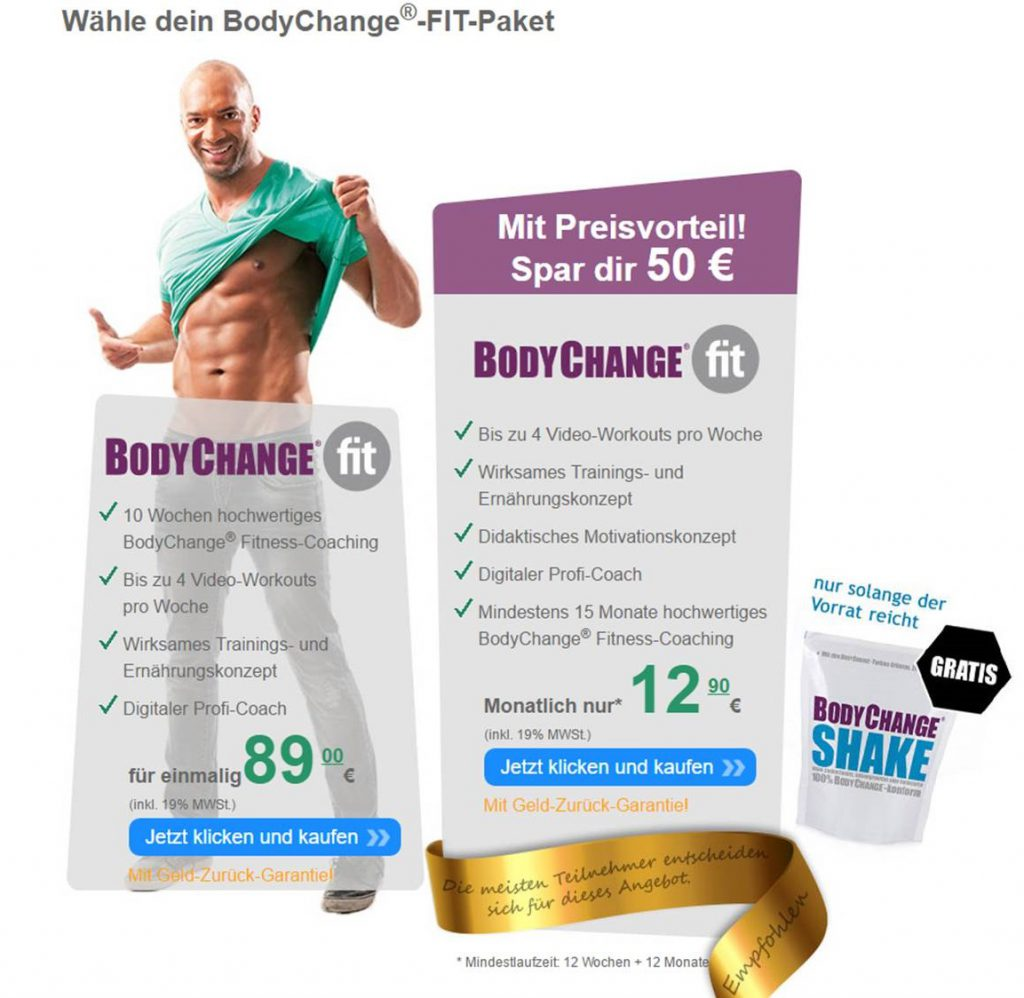 Bodychange Fit