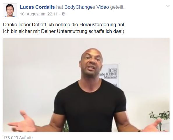 Lucas Cordalis BodyChange Sixpack Video Soost
